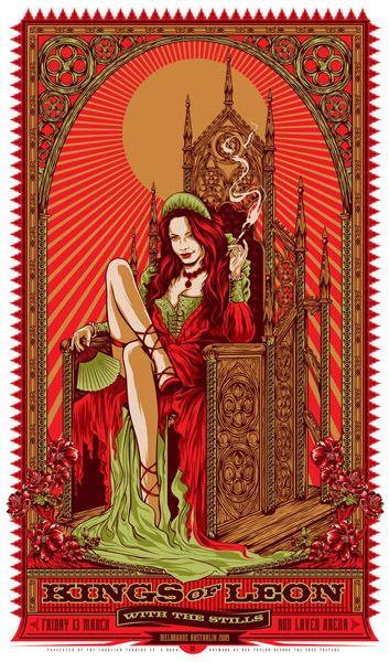 Kings of Leon - gig poster