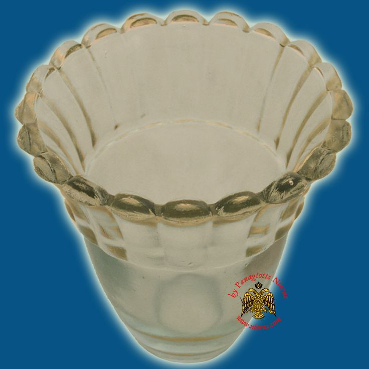 Glass Orthodox Votive Cup Clear