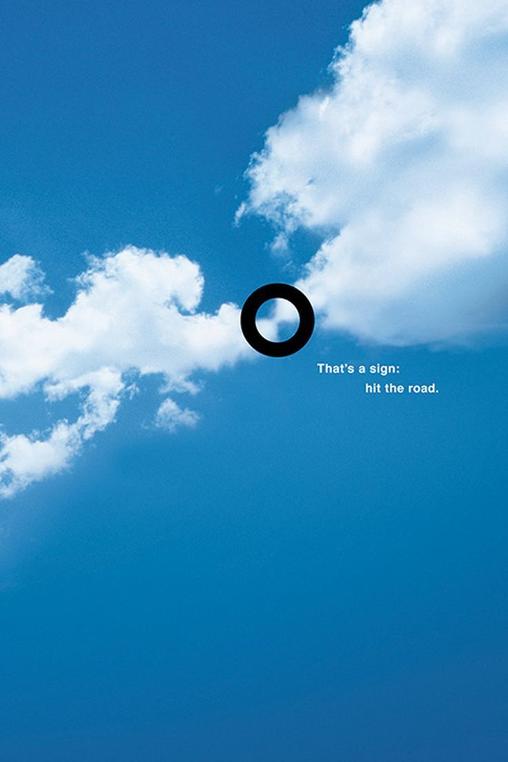 BMW :: That's a sign: hit the road. #ad: