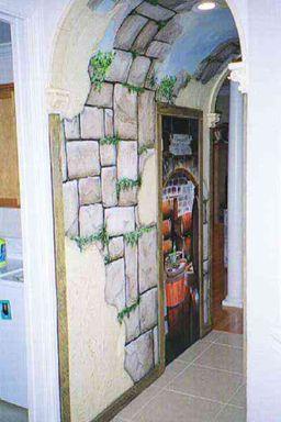 Faux Stone Wall... Amazing