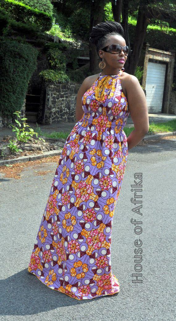 NEW LISTING Lola African print maxi dress by HouseofAfrika on Etsy