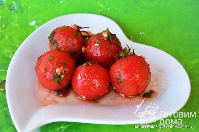 """Рецепт """"Щекотливый момент для закусочных помидор"""""""