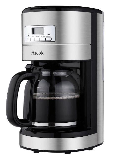 Cafetera de goteo de Aicok programable y de 1.8 litros en oferta por tiempo limitado en Amazon España