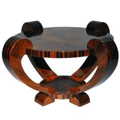 Art Deco Round Tea Table with Large Curved Legs gorgeous