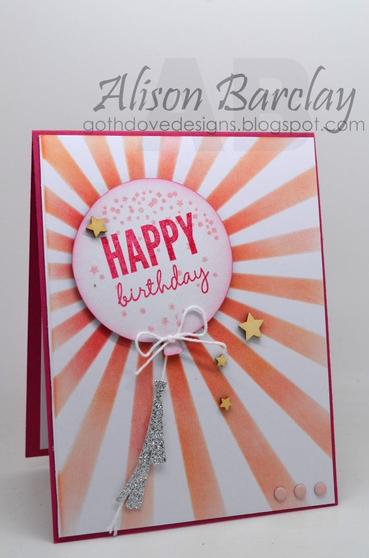 Gothdove Designs - Alison Barclay - Stampin' Up! Australia - Hooray It's Your Day - Celebrate Today #stampinup #colorcoach #celebratetoday #birthday #card #stampinupaustralia #balloons