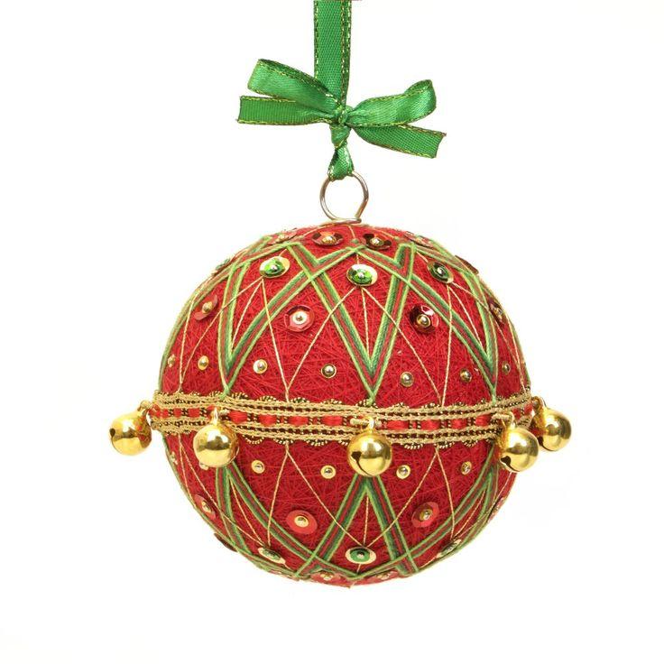 Christmas ornment inpired on Japanese art temari.  Pattern - JESTER. Handmade by JoeyART