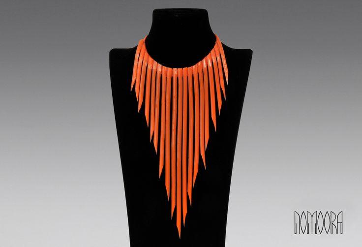 Νoodles necklace.Hand-made, silicone jewel by Nomoora Jewellery.