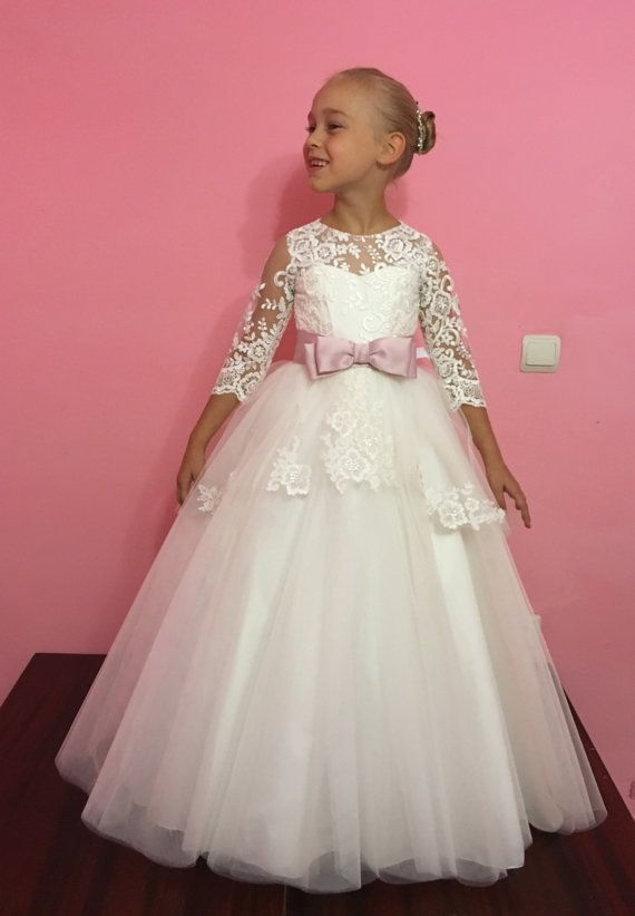 Ivory Flower Girl Dress  Wedding Holiday by KingdomBoutiqueUA