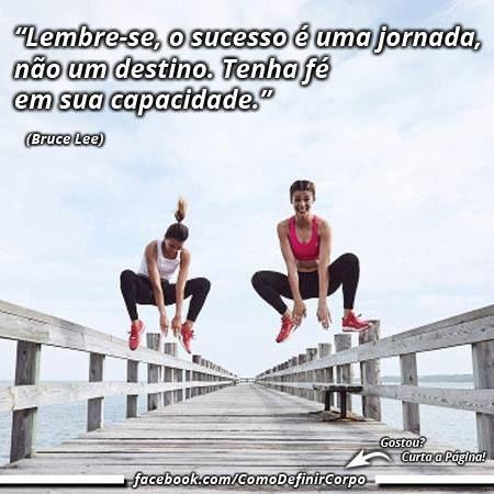 """""""Lembre-se, o sucesso é uma jornada, não um destino. Tenha fé  em sua capacidade."""" ✌ (Bruce Lee)  Torne-se um Expert em Definição Muscular! Descubra  como definir o corpo, passo a passo: Visite Agora ➡ https://SegredoDefinicaoMuscular.com/ #boanoite #Goodnight #motivação #motivation #motivate #ComoDefinirCorpo"""