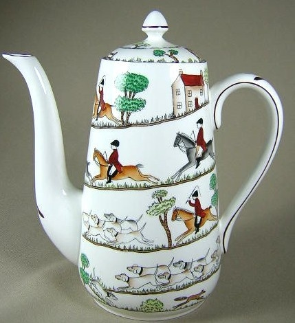Crown Staffordshire Hunting Scene. Oh, double wow...............
