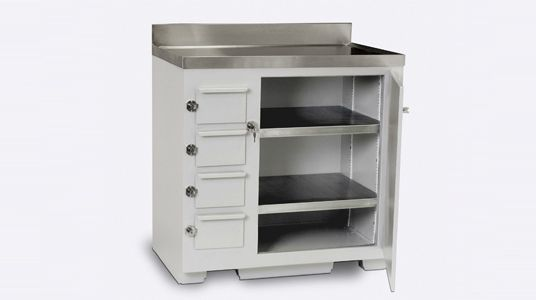 This lead lined cabinet looks really cool. My wife has considered becoming an x-ray technician. She could use this to protect things from electromagnetic radiation, if she becomes a tech.