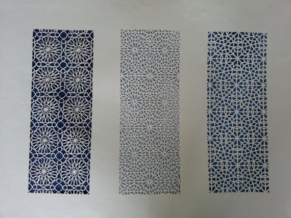 Geometric Paper Cutting - 3 Panels