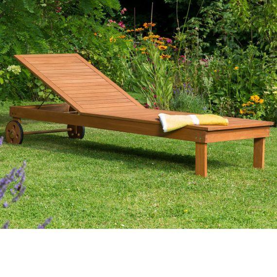 Outdoor Liege Mit Rollen 5 Fach Verstellbar Eukalyptusholz Outdoor Liege Outdoor Outdoor Mobel
