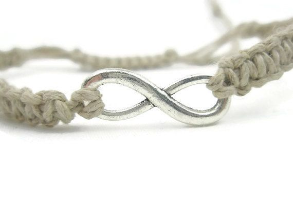 Natural Hemp Bracelet With Infinity Charm by ACORDING2MACEY
