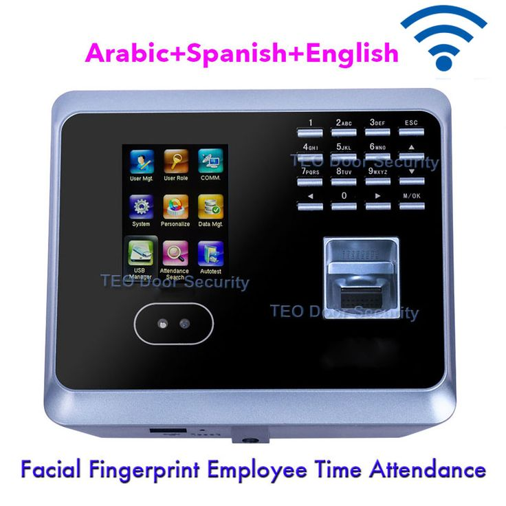 Facial Fingerprint Employee Time Attendance  advanced timesheet reports GM300Plus Low Cost Face Recognition System