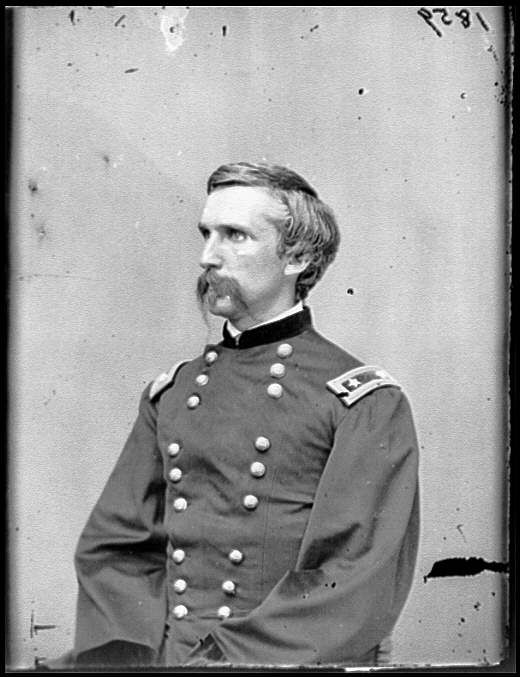 Portrait of Maj. Gen. (as of Mar. 29, 1865) Joshua L. Chamberlain, officer of the Federal Army