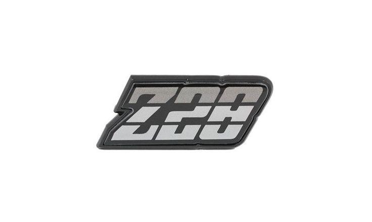 """1980 - 1981 Chevy Camaro """"Z28"""" Gas Door Emblem, Silver"""