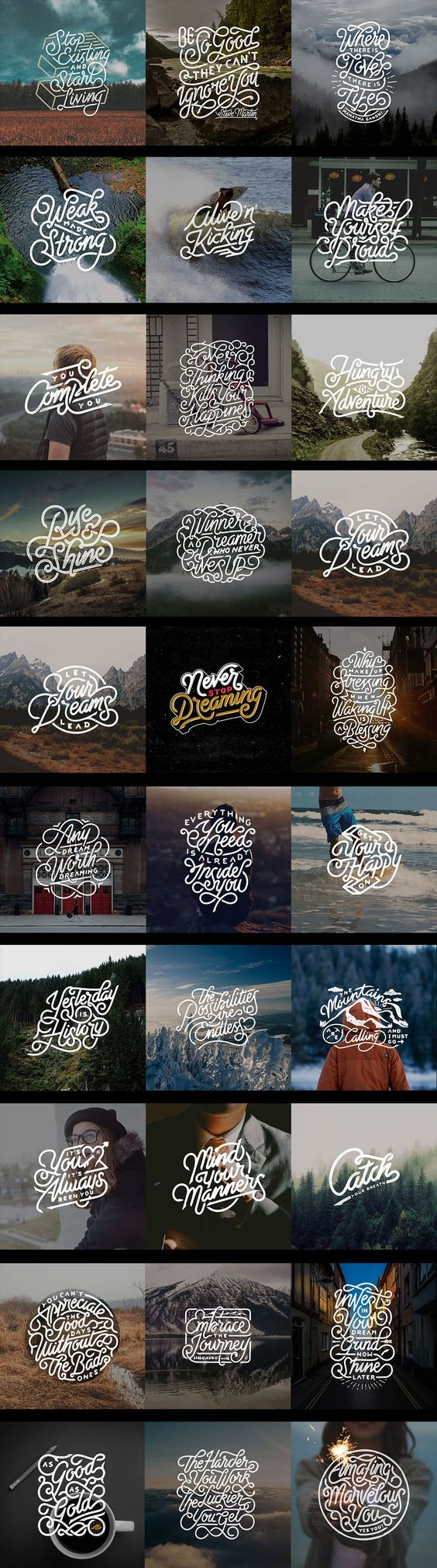 Hand Lettering Quotes v.1 on Behance: