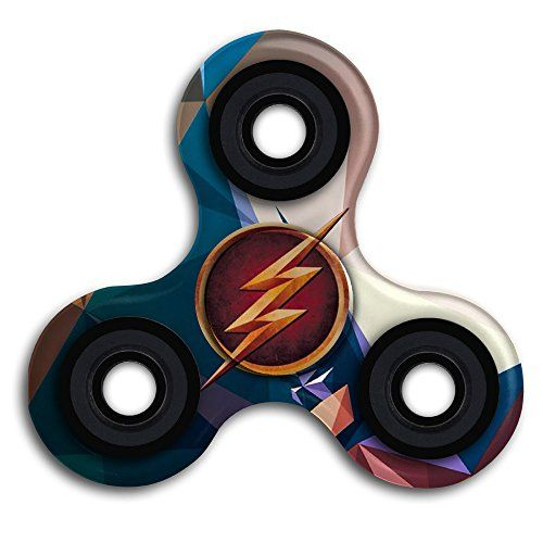 Cheap price The Flash Logo Tri-Spinner Fidget Hand Spinner Camouflage Multi-Color EDC Focus Toys For Kids