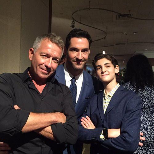 Sean Pertwee, David Mazouz (Fox Gotham) and Tom Ellis (Lucifer)
