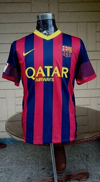 23045d59f2a BARCELONA FC 2013-2014 SUPERCOPA DE ESPANA CAMPEON JERSEY NIKE SHIRT  CAMISETA L Regular price 25.00
