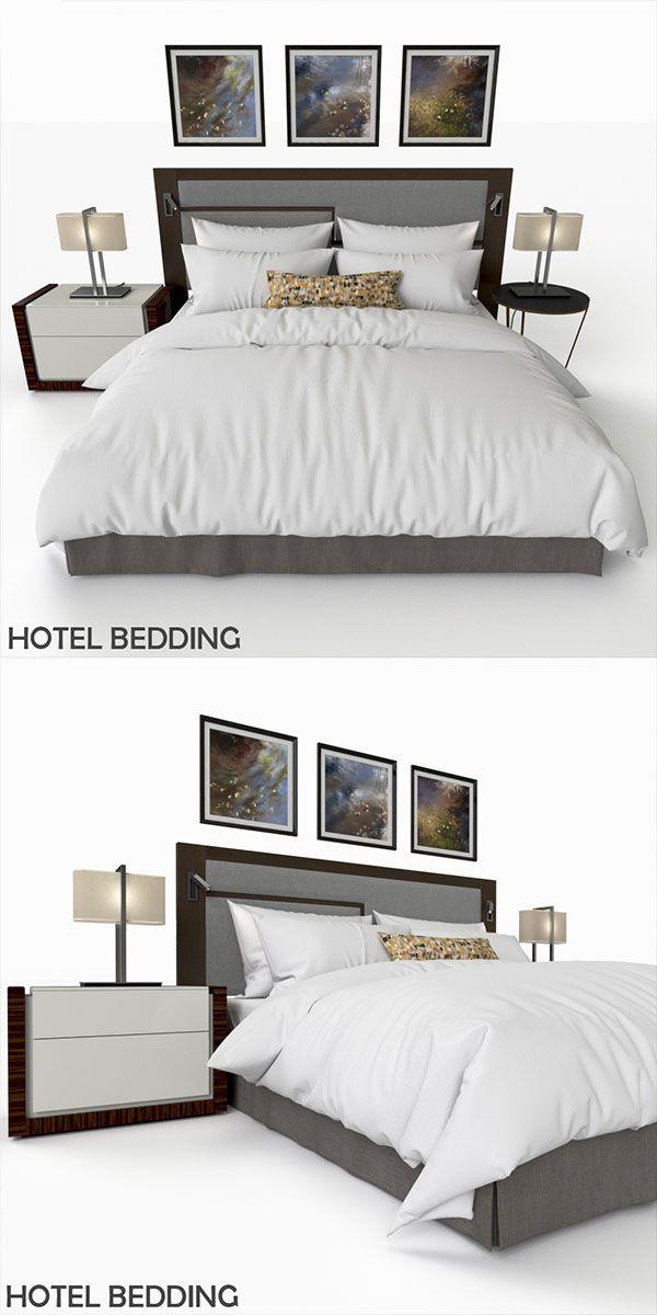 Free 3d Models Download Hotel Bedding Bed Hotel Bed Mattress