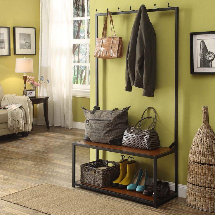 wall tree furniture. carolina cottage mitchell metal and wood hall tree wall furniture