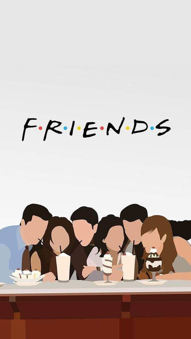 friends wallpaper serie Rachel Monica Phoebe