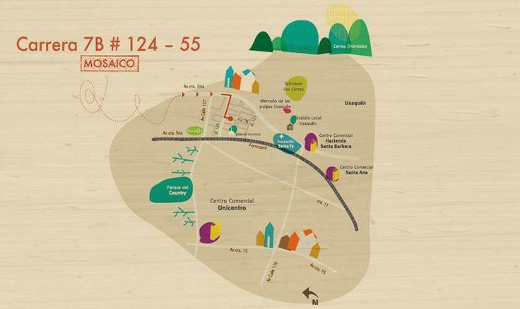 Llegar a Mosaico es muy fácil. ¡Te esperamos! Tel. 2159432 #Bogotá #Apartamentos #Vivienda