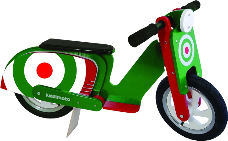 Green Target Scooter Balance Bike For Kids from Kiddimoto