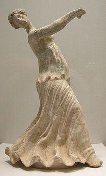 Statuetta fittile di danzatrice, II secolo a.C. da Centuripe (Sicilia)