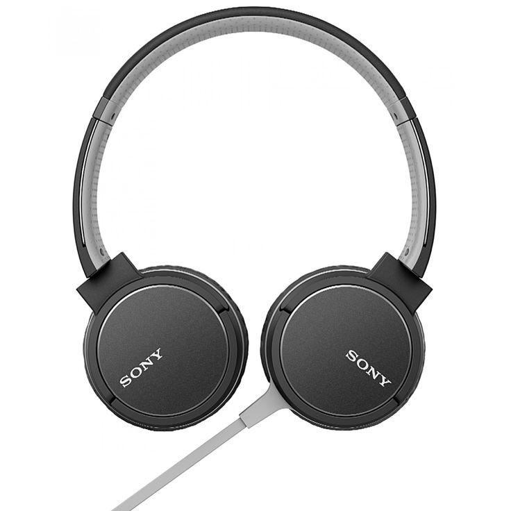 Sony Audífonos MDR-ZX660AP en tono negro; con conexión Bluetooth y NFC One-touch con función manos libres diadema ajustable para mayor comodidad unidad de diafragma 40 mm con cable plano para evitar enredos.<br>Longitud de cable 1.2 m.