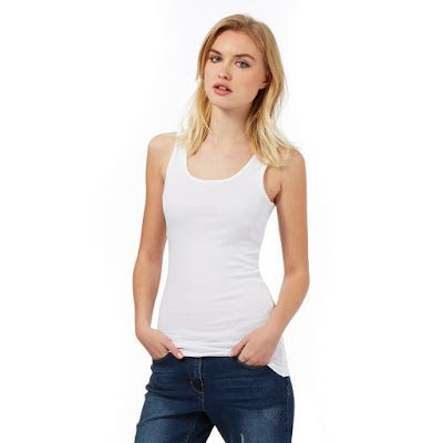 Best Offer On Red Herring White Rib Vest Top In UK  For details follow this link: http://goo.gl/4rlBdJ  #Redherring   #Vesttop   #Whitetop   #ribvesttop   #womensfashion   #womenswear   #womenclothing