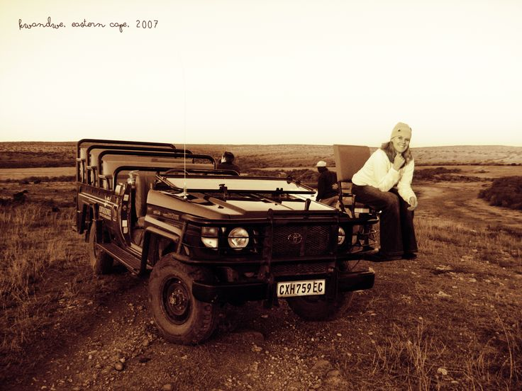 Mandi on a safari at Kwandwe Private Game reserve