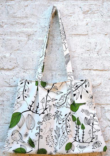 Handleiding - boodschappentas Van Katoen (2 tassen uit 66x140cm) -  by eloleo.be