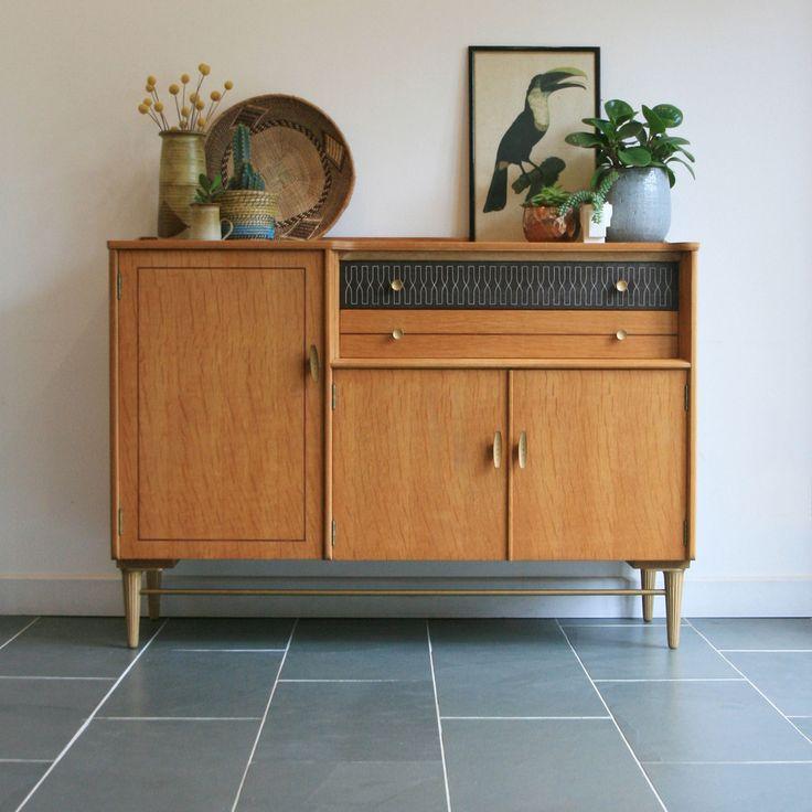 Mid Century Vintage Oak Sideboard
