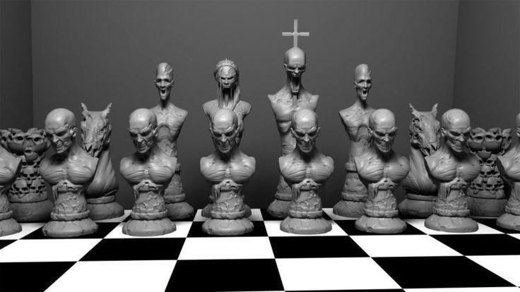 Зомби-шахматы от Wreckluse, напечатанные при помощи 3D принтера