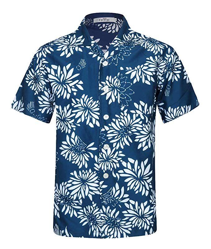 420eb1d7 Men's Hawaiian Shirt Short Sleeve Aloha Shirt Beach Party Flower Shirt  Holiday Casual Shirts Flowers EHS019-S