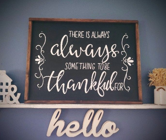 Hand painted chalk board quote