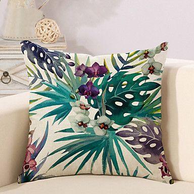 1+Pcs+Vintage+Bohemia+Tropical+Flowers+Printing+Pillow+Cover+45*45Cm+Classic+Pillow+Case+Sofa+Cushion+Cover+–+GBP+£+3.17