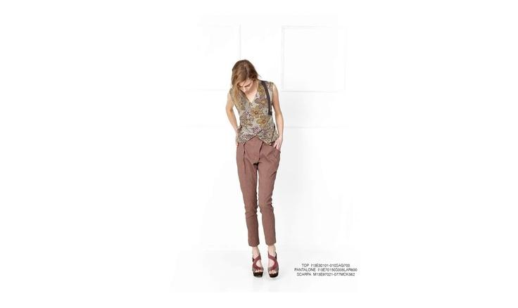 Malloni, #sandal, #slacks, #top