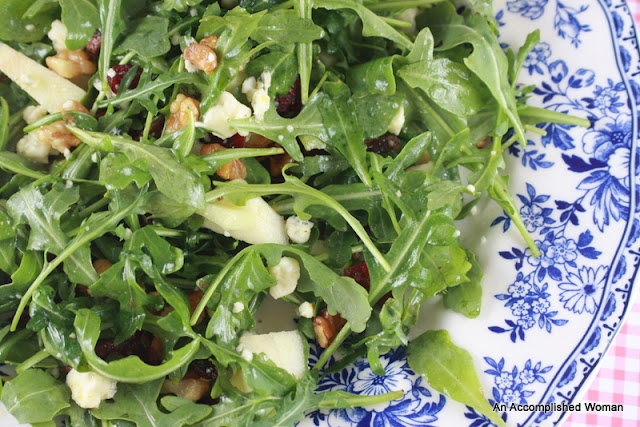 Ina Garten's Cape Cod Salad with arugula, bacon and blue cheese. Yum ...