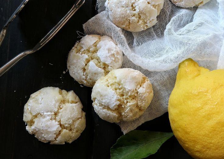 Lemon crinkle cookies: biscottini al limone | Vita su Marte