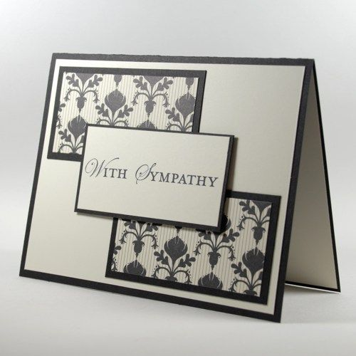Simple Elegance With Sympathy Handmade Greeting Card Fleur de Lis    cardsbylibe - Cards on ArtFire