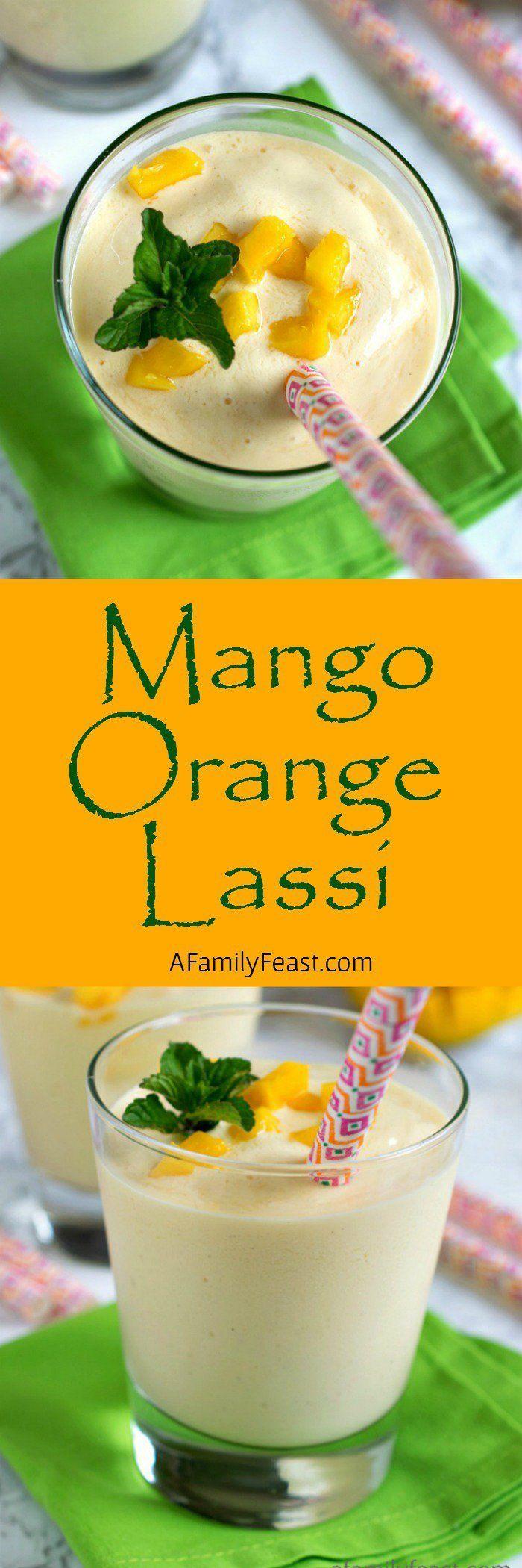 Mango Orange Lassi - A refreshing yogurt drink with sweetness from mango and…