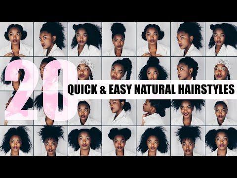 5 Quick And Easy Natural Hairstyles Short Medium Natural Hair