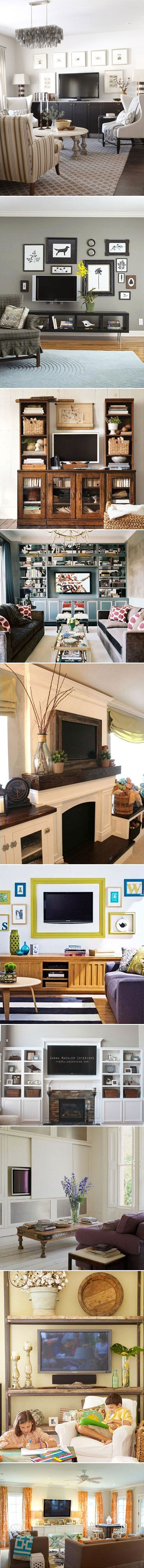 TV DISPLAY :: TONS of different ways to display your TV & incorporate it w/ you decor | #cestationalgirl
