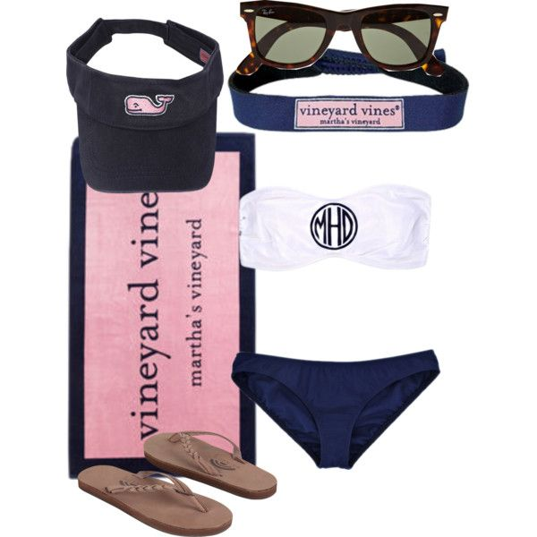 """Everyday is a beach day in vineyard vines"" by southprep on Polyvore"