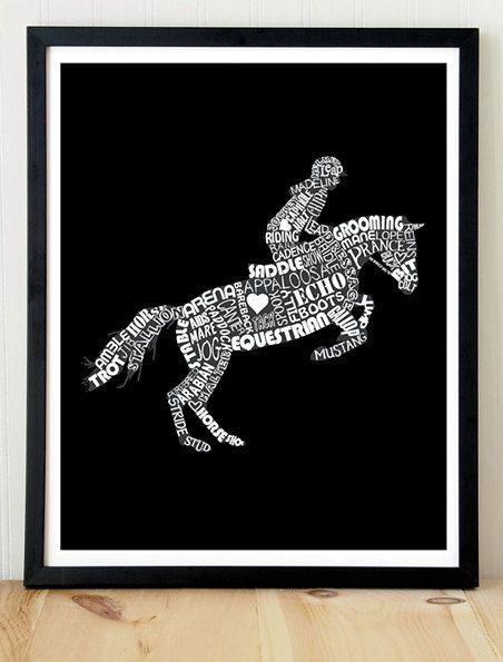 Horseback Riding Equestrian Horse Poster by KremerPrintandDesign