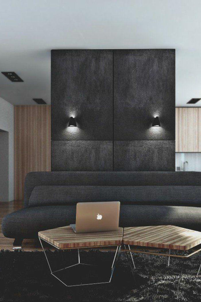 la peinture gris anthracite pour un salon moderne et chic